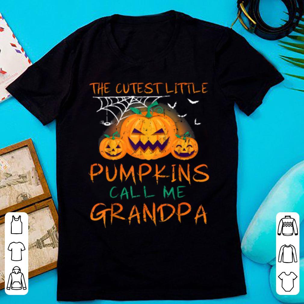 Nice Mens The Cutest Little Pumpkins Call Me Grandpa Halloween shirt 1 - Nice Mens The Cutest Little Pumpkins Call Me Grandpa Halloween shirt