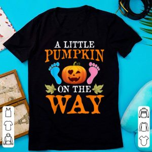 Nice Pregnancy Announcement Pumpkin Halloween Party Costume Gift shirt