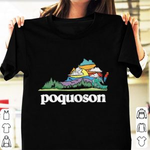 Nice Retro Poquoson Virginia Outdoors Nature Lover shirt
