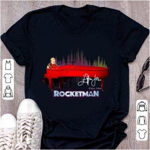 Nice Rocketman Elton John Playing Piano Signature shirt