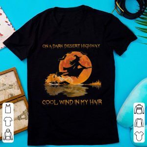 Nice Witch On A Dark Desert Highway Guitar Lake Halloween shirt