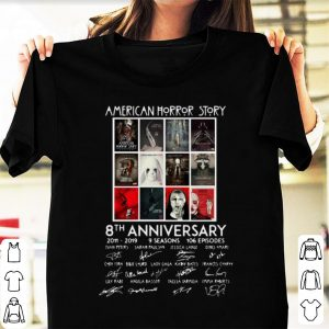 Official American Horror Story 8th Anniversary 2011-2019 Signature shirt
