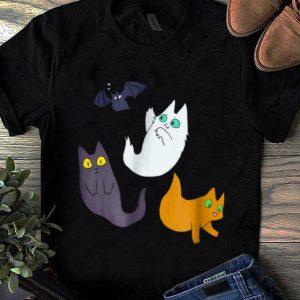 Official Cute Halloween Ghost Cat - Black Cat Halloween shirt