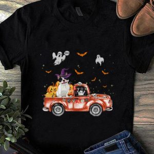 Official French Bulldog Truck Pumpkin Halloween Gift For Dog Lovers shirt