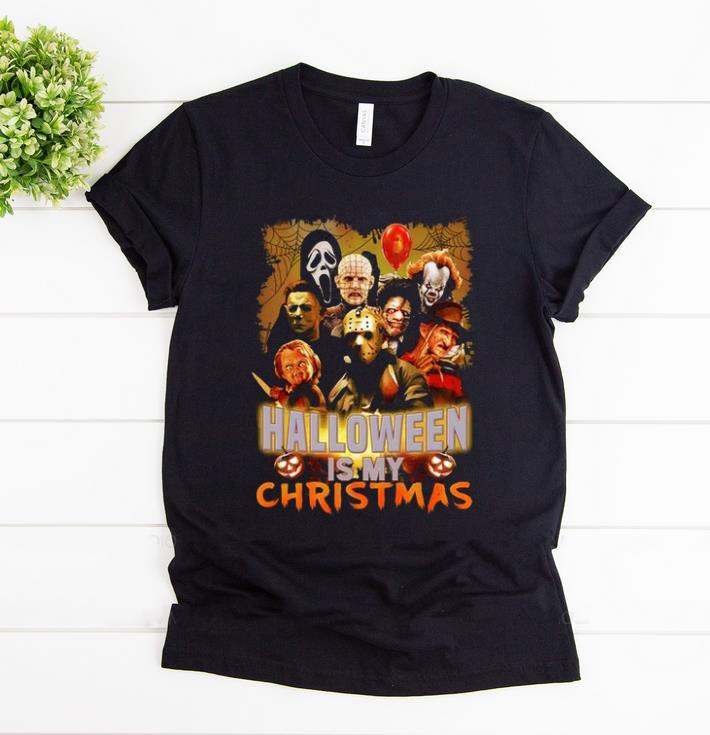 Official Halloween Is My Christmas Horror Movie Characters shirt 1 - Official Halloween Is My Christmas Horror Movie Characters shirt