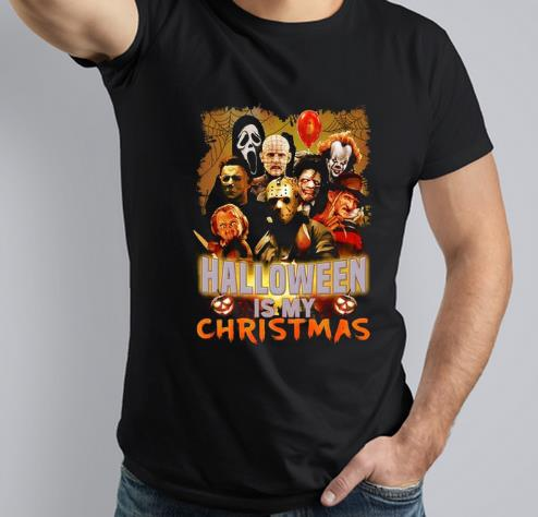 Official Halloween Is My Christmas Horror Movie Characters shirt