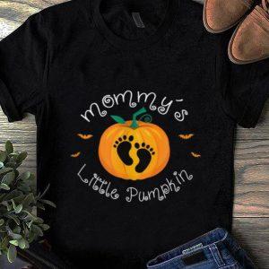 Official Halloween Pregnancy Gifts Costumes Mommy's Little Pumpkin shirt