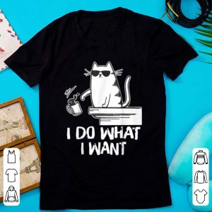Original Cat I Do What I Want Coffee Cat Coffee Drinking shirt