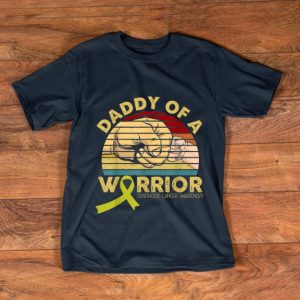 Original Daddy Of A Warrior Childhood Cancer Awareness Vintage shirt