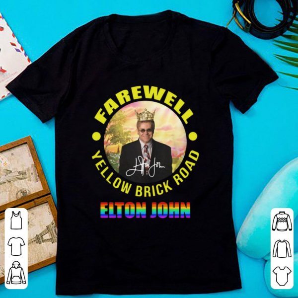 Original Elton John Farewell Yellow Brick Road Signature LGBT shirt