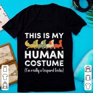 Original My Human Costume I'm Really A Leopard Gecko Halloween shirt