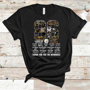 Original Pittsburgh Steelers 86th Anniversary 1933-2019 Signatures shirt