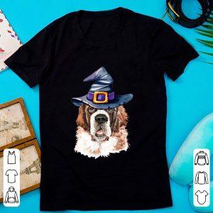 Original Saint Bernard Witch Hat Dog Lovers Halloween Gift shirt