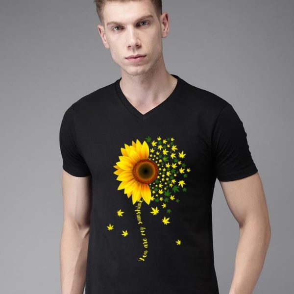 Original Sunflower Cannabis Weed Leaf Lover Marijuana shirt