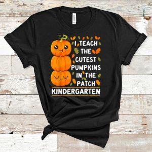 Premium Halloween Kindergarten Teacher Cutest Pumpkins shirt