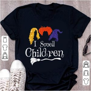 Premium I Smell Children Kids Broom Halloween Costume shirt