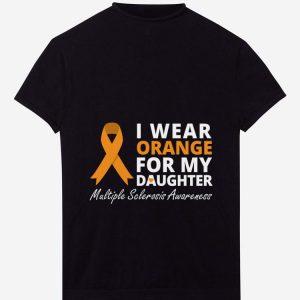 Premium Wear Orange For My Daughter Multiple Sclerosis Awareness shirt