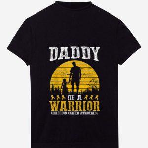 PremiumDaddy Of A Warrior Childhood Cancer Awareness shirt