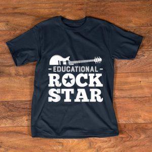 Pretty Educational Rockstar Rock Guitar shirt