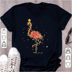 Pretty Flamingo Christmas Lights shirt