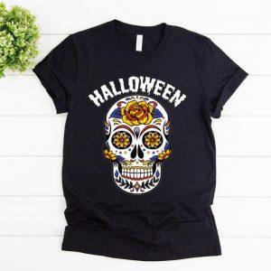 Pretty Halloween Calavero Skull Flower shirt