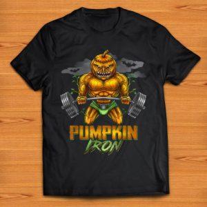Pretty Halloween Gym Workout Pumpkin Iron Motivation Men Workout shirt
