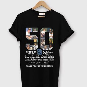 Pretty San Diego Padres 50 Years 1969-2019 Signatures shirt