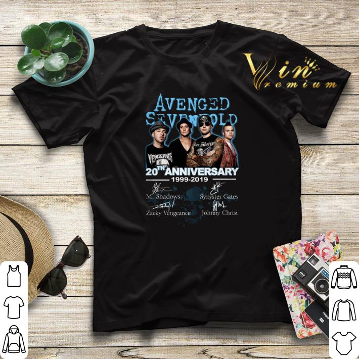 Signatures Avenged Sevenfold 20th Anniversary 1999 2019 shirt 4 - Signatures Avenged Sevenfold 20th Anniversary 1999-2019 shirt