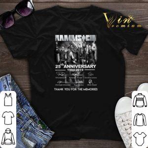 Signatures Rammstein 25th anniversary 1994-2019 shirt