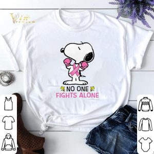 Snoopy no one fights alone Breast Cancer Awareness shirt sweater