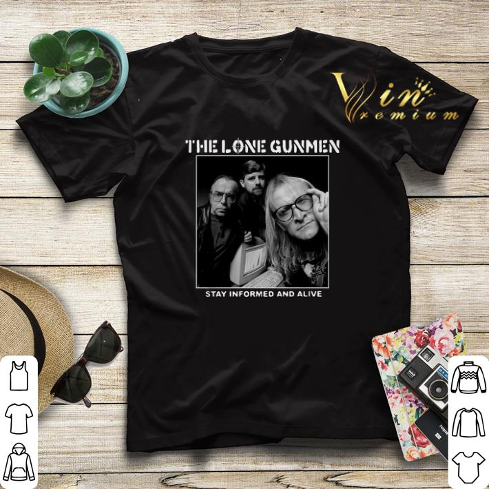 The Lone Gunmen stay informed and alive shirt sweater 4 - The Lone Gunmen stay informed and alive shirt sweater