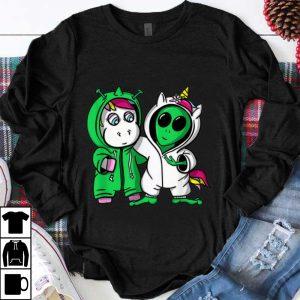 Top Unicorn Alien Halloween Costume Friends shirt