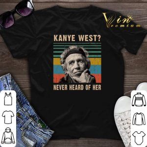 Vintage Keith Richards Kanye West never heard of her shirt