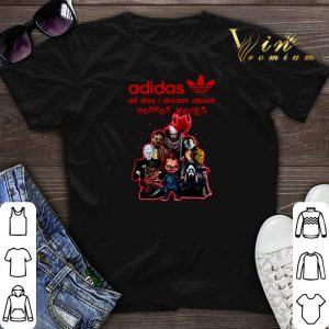 adidas all day i dream about horror movie characters shirt sweater
