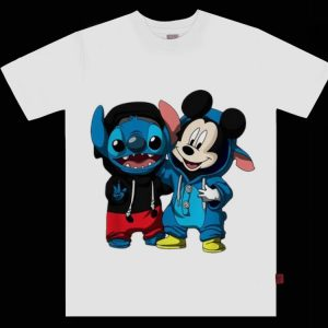 Awesome Baby Stitch And Mickey Mouse shirt