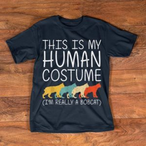 Awesome Bobcat Halloween Human Costume Feline Kitty Easy DIY Gift shirt