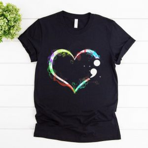 Awesome Heart Semicolon - Mental Health shirt