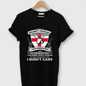 Awesome I Am A Grumpy Veteran My Oath Of Enlistment Has No Expiration Date shirt
