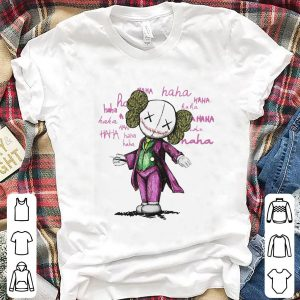 Awesome Kaws And Joker Haha shirt