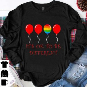 Awesome LGBT Pride Love Rainbow Balloons It's Ok To Be Different shirt