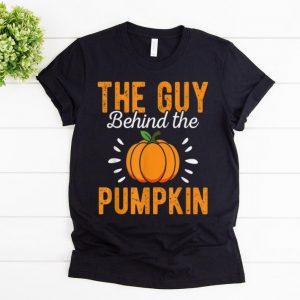 Awesome Mens The Guy Behind The Pumpkin Funny Halloween Costume Gift shirt