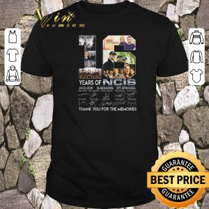 Awesome Thank you for the memories 16 years of NCIS 2003-2019 16 seasons shirt