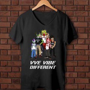 Awesome VVe Vibe Different MLB Dragon Ball Characters shirt