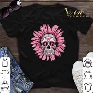 Breast Cancer Awareness Sugar Skull Sunflower shirt sweater