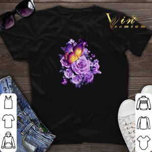 Butterfly purple flower shirt sweater