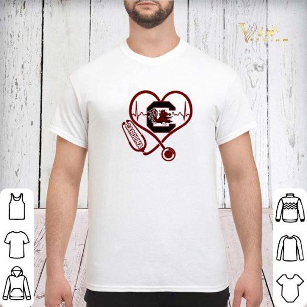 Heartbeat love Carolina Gamecocks nurse shirt sweater