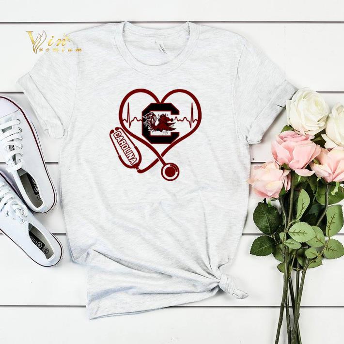 Heartbeat love Carolina Gamecocks nurse shirt sweater 4 - Heartbeat love Carolina Gamecocks nurse shirt sweater
