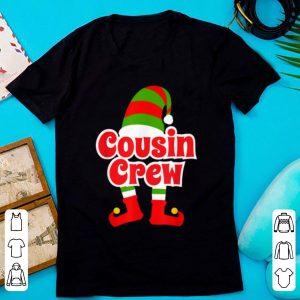 Hot Cousin Crew Christmas Elf Matching Family Gift Tee shirt