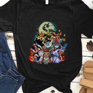 Hot Halloween Pokemon Eevee Witch shirt