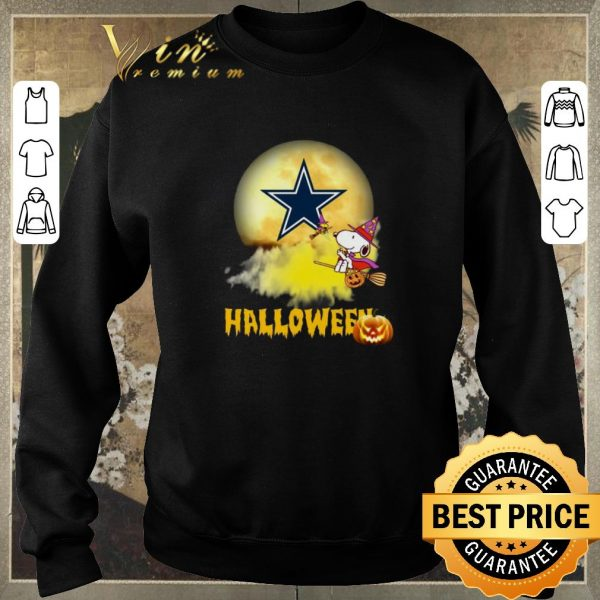 Hot Halloween Snoopy flying on the broom Dallas Cowboys shirt